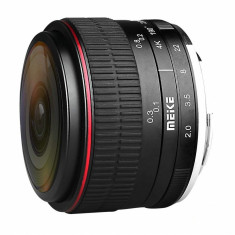 Obiectiv manual Meike 6.5mm F2.0 Fisheye pentru Sony E-mount