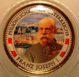5.333 AUSTRIA PERSONALITATI FRANZ JOSEPH 50 EURO CENT 2011 COLOR, Europa