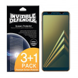 Folie Silicon Protectie Ecran Originala Ringke Premium Samsung A8 2018 ,case Friendly ,transparenta,4 Bucati In Pachet