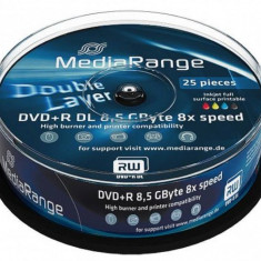 Mediu optic MediaRange DVD-R 8.5GB 8x 25