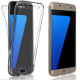 Husa 360 Grade Full Cover Silicon Samsung S6 Edge Transparenta