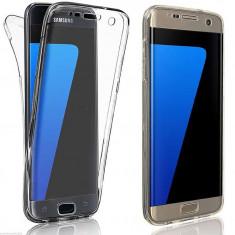 Husa 360 Grade Full Cover Silicon Samsung S6 Edge Transparenta