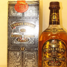 WHISKY, CHIVAS REGAL,  AGED 12 YEAR CL 70 GR 40 ani 90