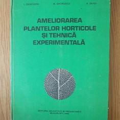 AMELIORAREA PLANTELOR HORTICOLE SI TEHNICA EXPERIMENTALA- CAZACEANU
