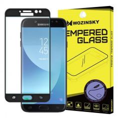 Folie Sticla Securizata Full Glue Wozinsky Samsung J7 2017 Cu Marginea Soft Negru