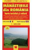 Manastirile Din Romania - Harta Turistica Si Rutiera