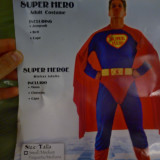 Costum adult SuperMan, One size, Albastru, American Retro