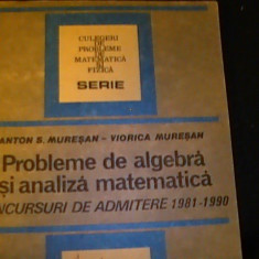 PROBLEME DE ALGEBRA SI ANALIZA MATEMATICA-CONCURSURI ADM. 1981-1990-ANTON, Alta editura