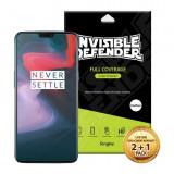 Folie Protectie Ecran Silicon Premium Marca Ringke Oneplus 6 ,case Friendly ,transparenta 3 Bucati In Pachet