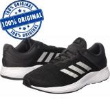 Pantofi sport Adidas Fluidcloud pentru barbati - adidasi originali - alergare, 42, Negru, Textil