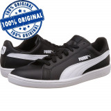 Pantofi sport Puma Smash pentru barbati - adidasi originali - piele naturala, 46, Negru