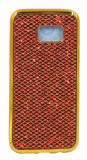 Husa Lux Fashion Glitter Samsung S6 Edge Gold Red