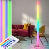 Lampa decorativa LED RGB, 6W, 121 cm, telecomanda, 12 culori, de podea