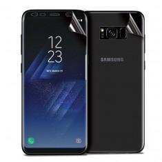 Set Folie Protectie Ecran Si Spate Upzz Pro Samsung S8 Silicon Si Folie Bestsuit Nano Glass Pentru Camera