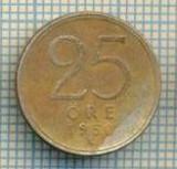 11695 MONEDA- SUEDIA - 25 ORE  -ANUL 1950- ARGINT 0,400  -STAREA CARE SE VEDE, Europa