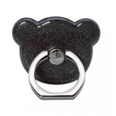 Suport Universal Tip Inel Iring Pentru Telefon Negru Ears foto