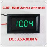 Voltmetru digital cu leduri verzi, 3.5 - 30 V, cu 4 digit si 2 fire, carcasa