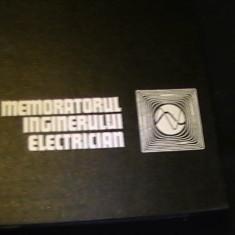 MEMORATORUL INGINERULUI ELECTRICIAN-SIMENS-TRAD. DIN GERMANA-861 PG A 4-, Alta editura
