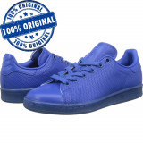 Adidasi barbat Adidas Originals Stan Smith Adicolor - adidasi originali - piele, 44, 46 2/3, Albastru, Piele naturala