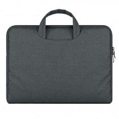 Husa Geanta Upzz Tech-protect Briefcase Macbook 12 Air 11 Dark Grey