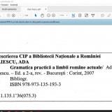 Ada Iliescu-Gramatica practica a Limbii Romane PDF