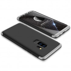 Husa 360 Grade Upzz Protection Samsung Galaxy S9+ Plus Negru Silver