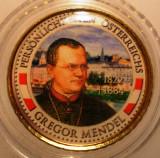 5.331 AUSTRIA PERSONALITATI GREGOR MENDEL 50 EURO CENT 2009 COLOR, Europa
