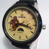 Ceas Automatic Goer Yellow Dial, Casual, Mecanic-Automatic, Inox