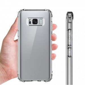 Husa Anti-shock Tpu Silicon Crystal Clear Upzz Samsung S8 Transparenta Plus Folie Silicon Full Cover Marca Upzz Itelmobile