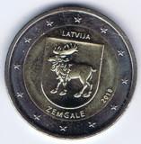 LETONIA moneda 2 euro comemorativa 2018 - Zemgale, UNC, Europa, Cupru-Nichel