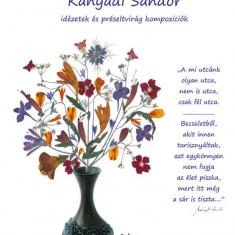 Calendar de perete A4 cu flori si citate de Kanyadi Sandor in limba maghiara, Oshi