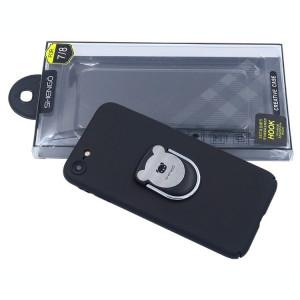 Husa Spate Hard Shengo Iring iPhone 7/8 Negru