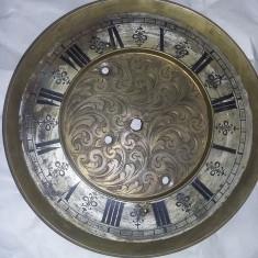 Cadran ceas de perete/pendul antic/epoca(bronz-alama)limbile aferente,Tp.GRATUIT