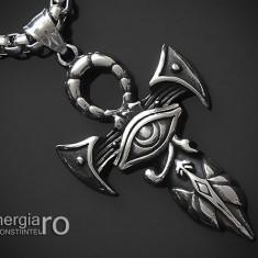 Amuleta Talisman Pandantiv Ankh Ochiul Horus RA - cod PND069