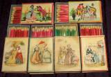 1935 Costume de epoca - 6 cutii chibrituri romanesti din lemn, Chibriturile SAR