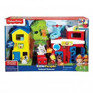 Jucarie copii set Little People Animal Rescue Fiser Price