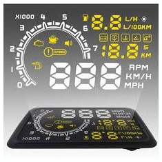 "hud head up display lcd proiector ecran afisaj 5.5"" inch interfata obd2 masina"