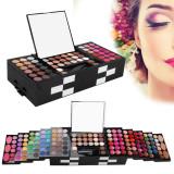 Trusa Machiaj Multifunctionala 148 culori cu blush, concealer si ruj Premium Palette, Fraulein38