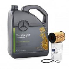 Pachet Revizie Ulei Motor Mercedes-Benz 5W-30 5L+Filtru Ulei Mercedes-Benz