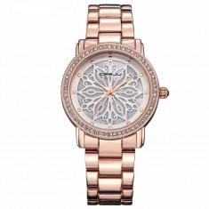 Ceas dama CRRJU, fashion golden rose, Quartz, Otel