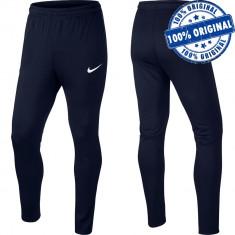 Pantalon Nike Academy pentru barbati - pantaloni originali - conici, Albastru, Lungi, Poliester