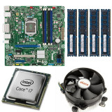 KIT Placa de baza Intel DQ77MK, LGA1155, Intel i7-3770 3.4GHz, 4 nuclee, 16GB...