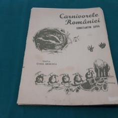 CARNIVORELE ROMÂNIEI*PLANȘE/ CONSTANTIN ȘOVA/ GRAFICA DIANA BRĂESCU/ 1987