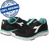 Pantofi sport Diadora Hawk 7 pentru femei - adidasi originali - alergare, 36.5, 37, 38.5, 40, 41, Negru, Textil