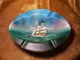Nautica! Scrumiera pictata manual, Italy, colectie, cadou, vintage