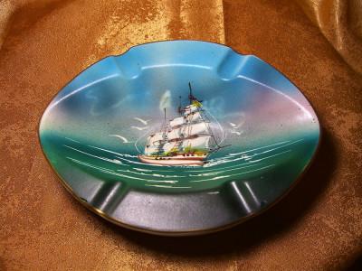 Nautica! Scrumiera pictata manual, Italy, colectie, cadou, vintage foto