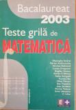 BACALAUREAT 2003 TESTE GRILA DE MATEMATICA - Andrei