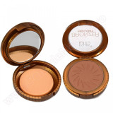Trusa Bronzer Highlight cu buretel si oglinda #03 - Dark Brown, Fraulein38