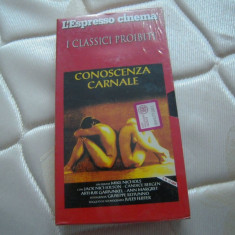 Caseta video VHS originala - Cunoastere carnala - Jack Nocholson, 1971, Italia, Italiana