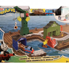 Jucarie baieti Thomas & Friends Adventures Railway Cranky At The Docks, Seturi complete, Fisher Price